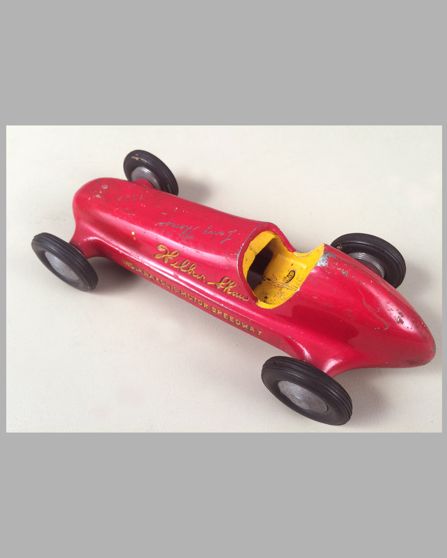 Wilbur Shaw Indianapolis Motor Speedway aluminum toy race car