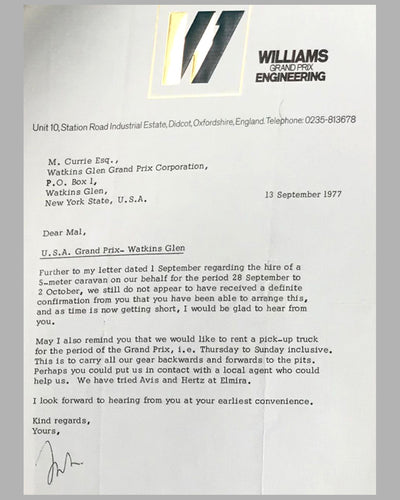 03 - Williams GP Engineering and Watkins Glen GP Corp. correspondence 4