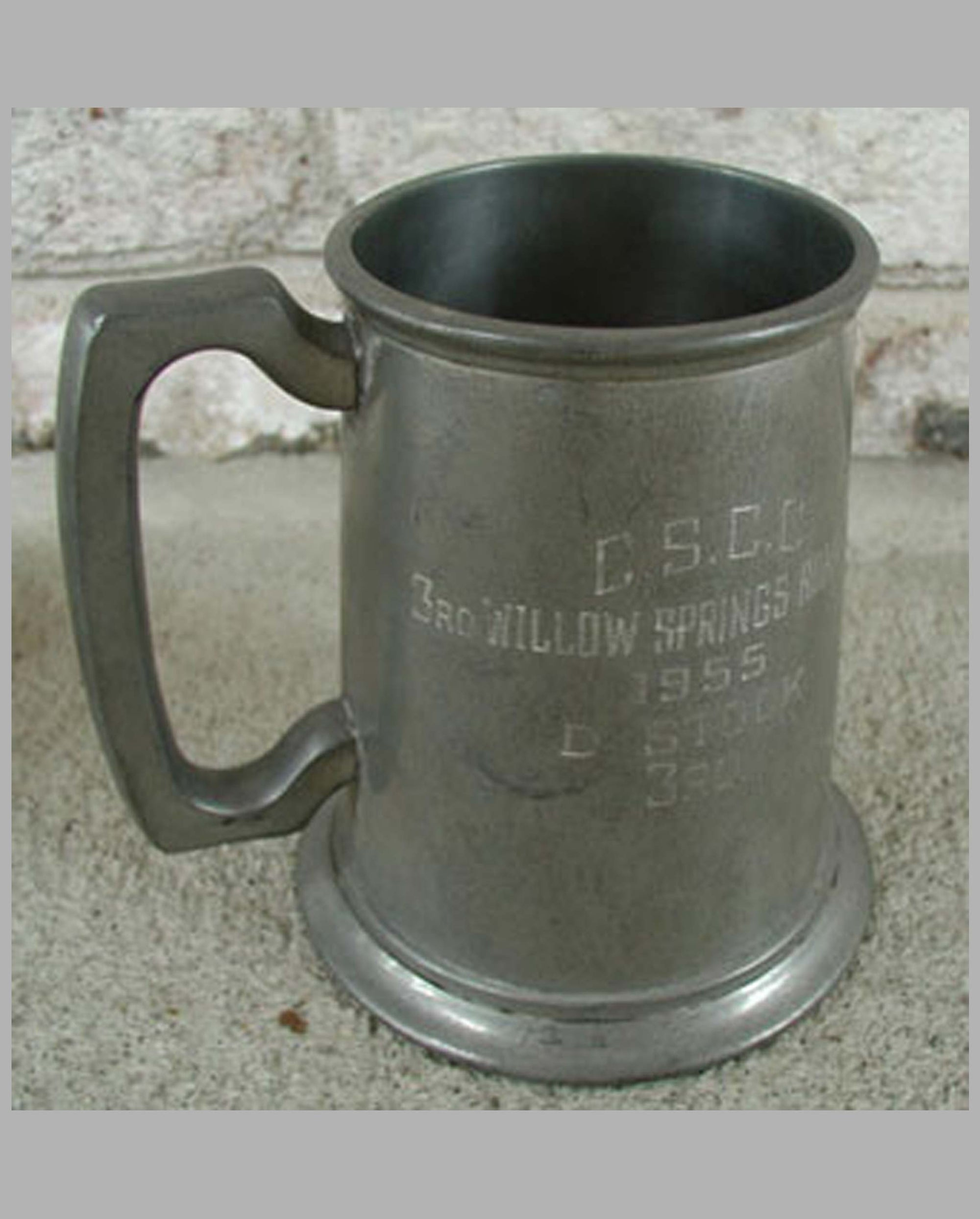 Willow Springs Road Race Pewter Stein award 1955