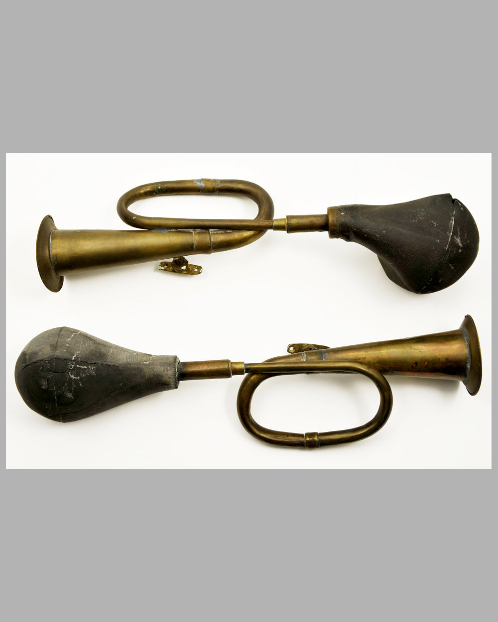 Two Brass Bulb Horns