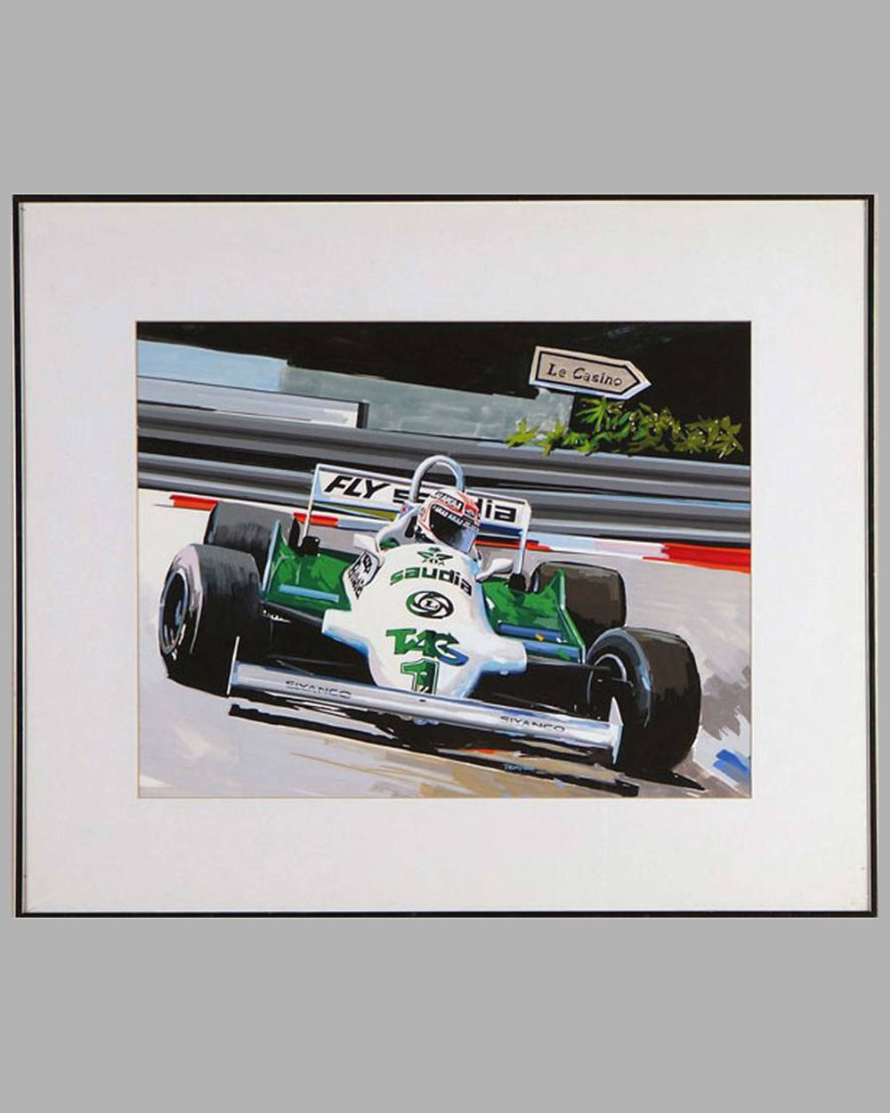 World Champion, Alan Jones painting by Thierry Thompson