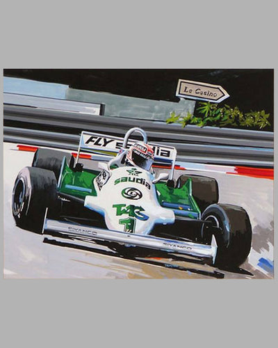 World Champion, Alan Jones painting by Thierry Thompson 2