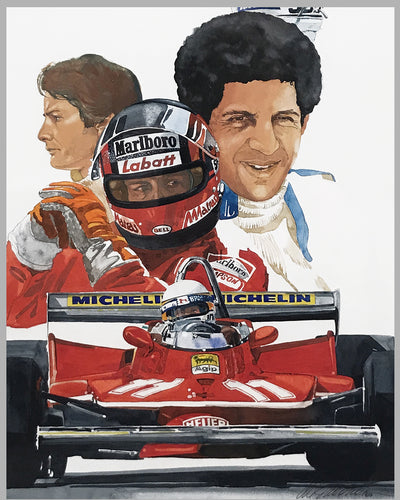 Ferrari, World Champion painting by Chuck Queener, 1979 2