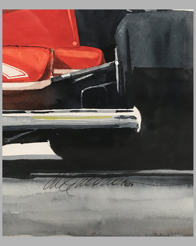 Ferrari, World Champion painting by Chuck Queener, 1979 3