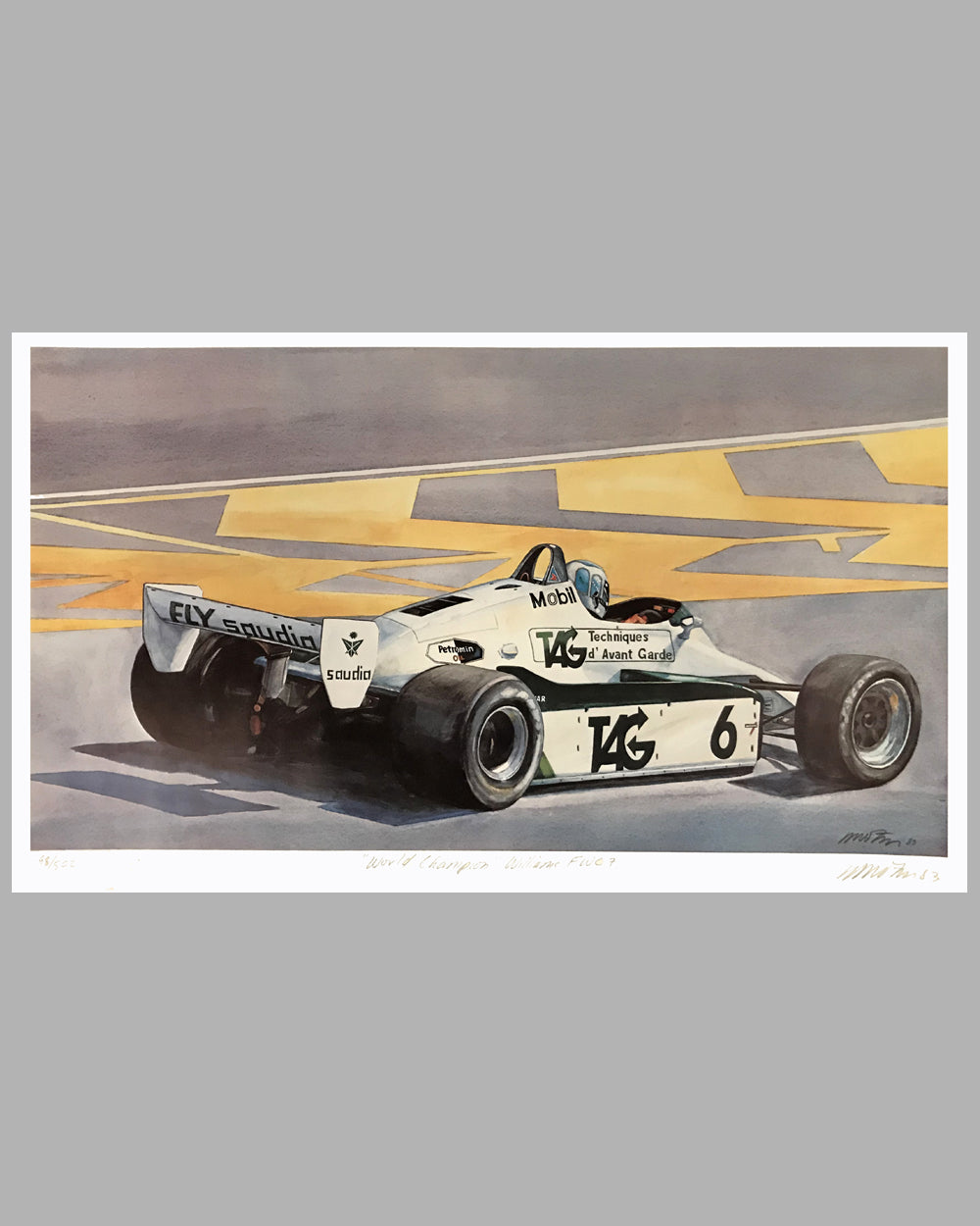 World Champion K. Rosberg's Williams print