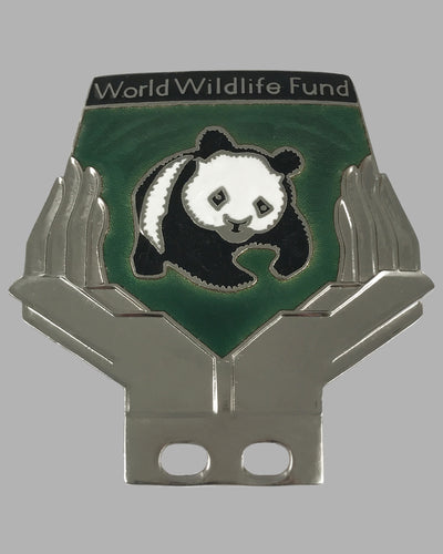 World Wildlife Fund bumper or license plate badge