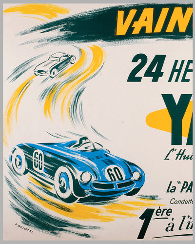 1952 Yacco Oil original advertising poster by P. Boyer 2