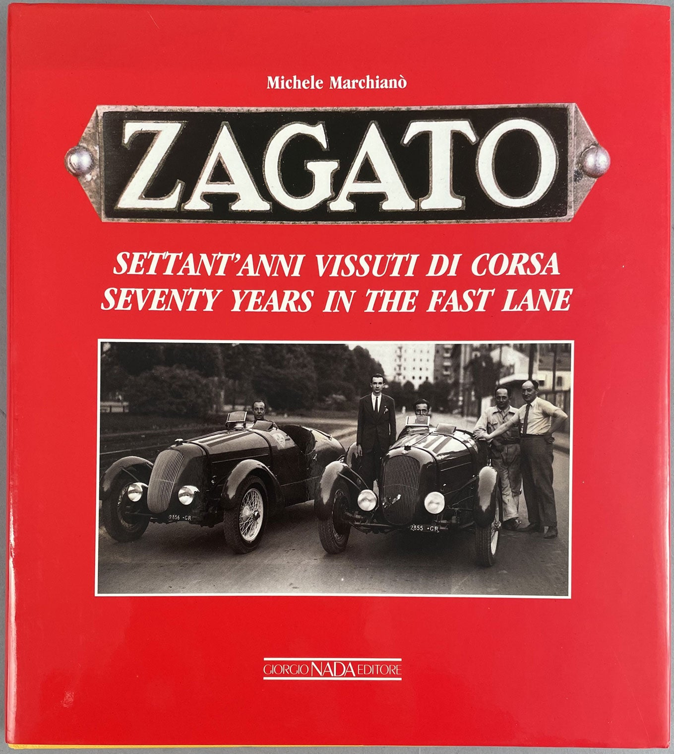 Zagato - 70 years in the fast lane book by Michele Marchiano, 1989, 1st edition