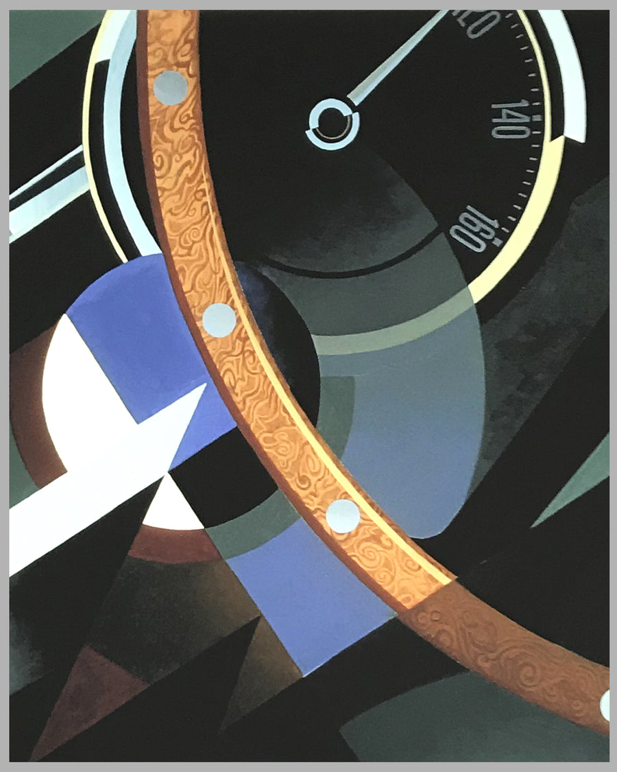 Zagato Dashboard giclée by Alain Lévesque