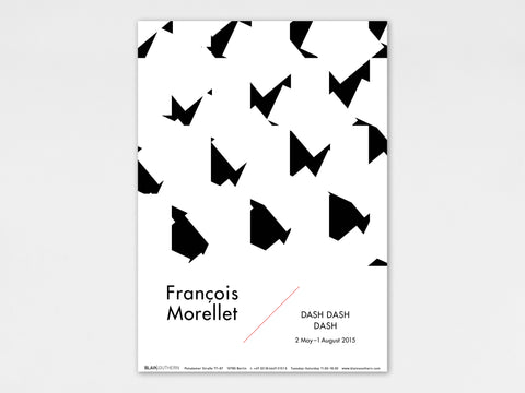 François Morellet, 'DASH DASH DASH' Collectable Art Poster