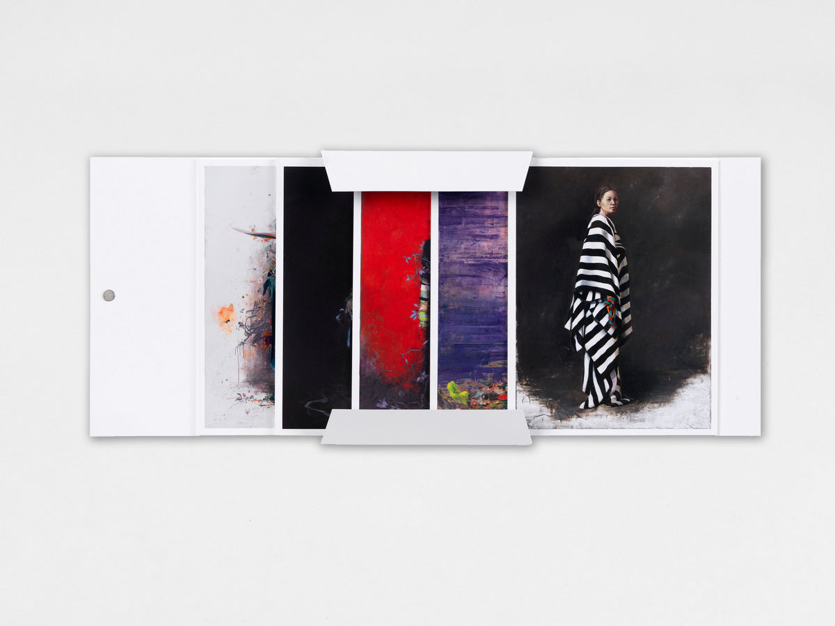 Jonas Burgert, collectors' set of 5 portrait cards
