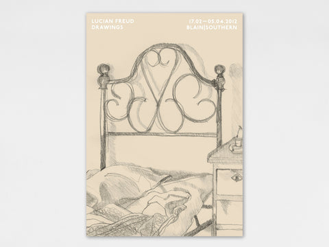 Lucian Freud, 'Bedhead' Poster