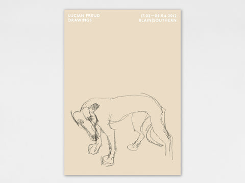 Lucian Freud 'Young Whippet' Poster