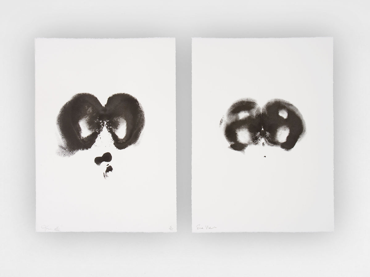 Tim Noble and Sue Webster, 'Black Bottoms', Limited Edition Diptych Monoprints, Edition 16