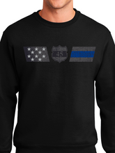 Load image into Gallery viewer, Officer Miktarian Flag Unisex Crew Neck Sweatshirt