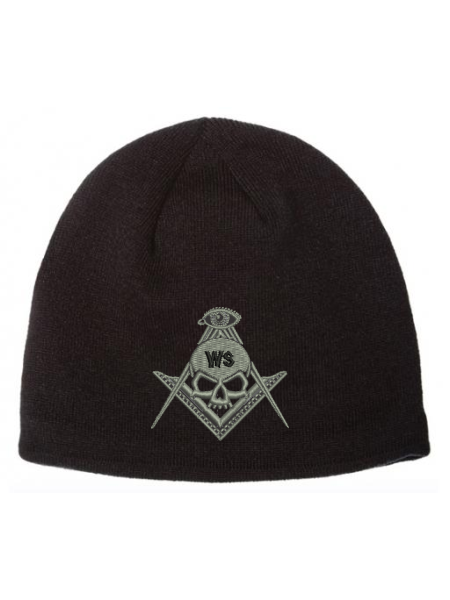 Widows Sons Skull & Compass Coolmax Beanie - Black