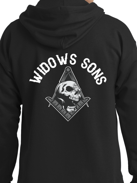 Widows Sons Compass, Square, & Skull Zip Up