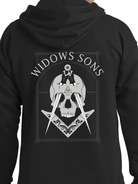 Widows Sons Stabbed Skull Zip Up