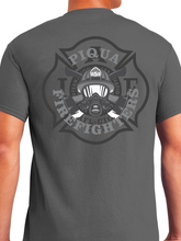Load image into Gallery viewer, Piqua Fire Union - Vintage Helmet & Axes Unisex T Shirt