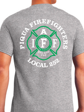 Load image into Gallery viewer, Piqua Fire Union - Green Unisex T Shirt