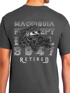 Retired Macedonia Fire Dept Distressed Unisex T Shirt