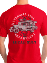 Load image into Gallery viewer, Retired Macedonia Fire Dept Banner Unisex T Shirt