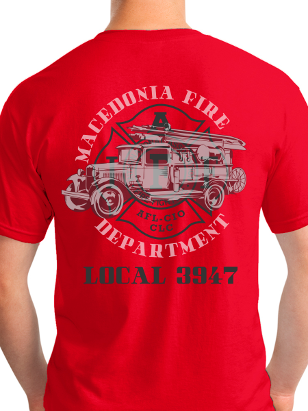 Retired Macedonia Fire Dept Banner Unisex T Shirt