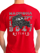 Load image into Gallery viewer, Retired Macedonia Fire Dept Distressed Unisex T Shirt