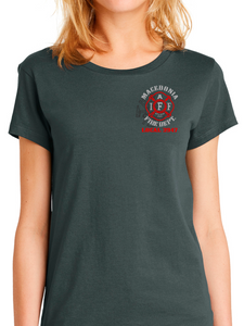 Macedonia Fire Dept Red Helmet Women's T Shirt