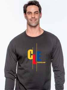 Unisex CLE Stagger Long Sleeve Shirt