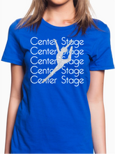 Load image into Gallery viewer, Center Stage Short Sleeve Glitter Dancer T Shirt