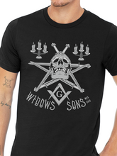 Load image into Gallery viewer, Widows Sons Skull Pentagram Unisex T Shirt