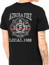 Load image into Gallery viewer, Aurora Fire Union / Fireman's Axe Unisex Jersey T Shirt