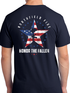 Northfield Fire Dept. - Star & Flag Unisex T Shirt