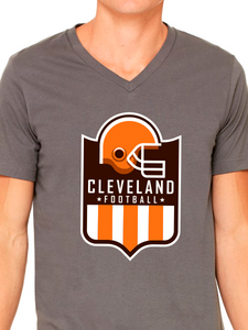 Cleveland Football Shield Unisex Short Sleeve Jersey V-Neck