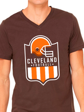 Load image into Gallery viewer, Cleveland Football Shield Unisex Short Sleeve Jersey V-Neck