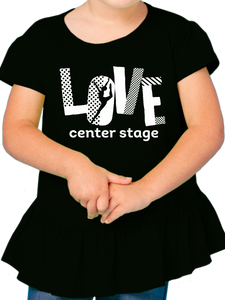Love Center Stage Toddler Ruffle Fine Jersey T Shirt