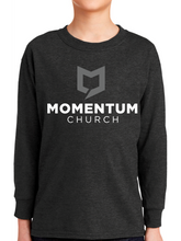 Load image into Gallery viewer, Momentum Youth Long Sleeve T Shirt - Stacked