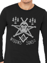 Load image into Gallery viewer, Widows Sons Skull Pentagram Unisex Long Sleeve T Shirt