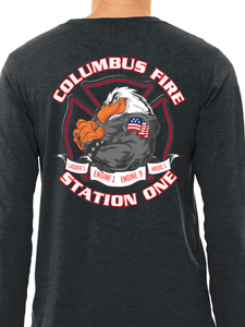 Columbus Fire - Eagle Banner Unisex Long Sleeve T Shirt LADDER