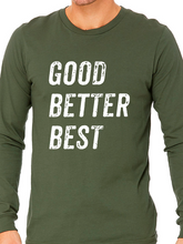 Load image into Gallery viewer, ATP Good Better Best Triblend Long Sleeve T Shirt