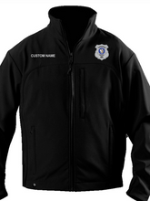 Load image into Gallery viewer, Twinsburg Police Department Softshell Fleece Jacket - Subdued Badge
