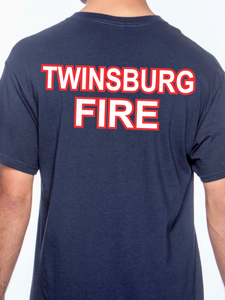Twinsburg Duty American Flag Beefy Pocket T Shirt