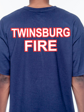 Load image into Gallery viewer, Twinsburg Duty American Flag Beefy Tall T Shirt