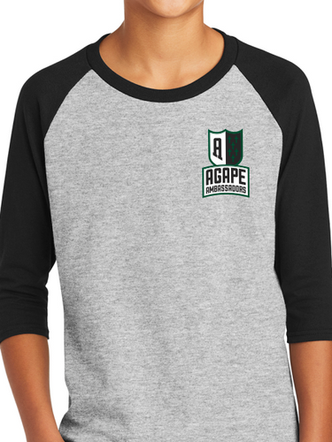 Agape Ambassadors Youth Three-Quarter Raglan Sleeve Baseball T-Shirt
