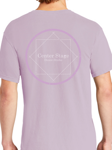 Center Stage Distressed Adult Short Sleeve T Shirt
