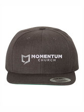 Load image into Gallery viewer, Momentum Classics Flat Bill Snapback Cap