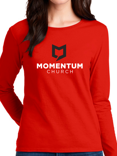 Momentum Women's Long Sleeve T Shirt - Stacked