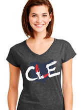 Load image into Gallery viewer, Women's Tribe Ohio Triblend V-Neck