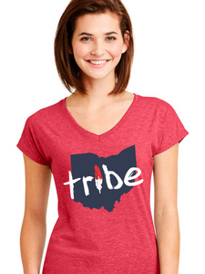 Women's Tribe Ohio Triblend V-Neck
